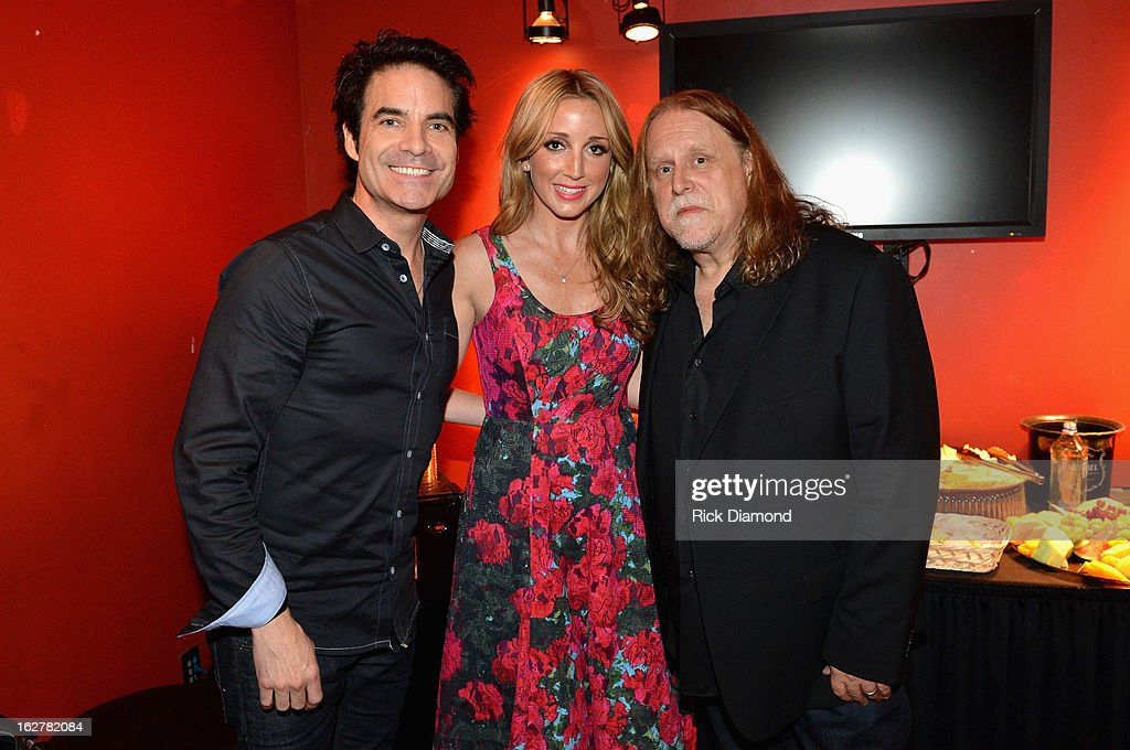 Singers Pat Monahan, Ashley Monroe and <a gi-track='captionPersonalityLinkClicked' href=/galleries/search?phrase=Warren+Haynes&family=editorial&specificpeople=220730 ng-click='$event.stopPropagation()'>Warren Haynes</a> attend the All For the Hall New York concert benefiting the Country Music Hall of Fame at Best Buy Theater on February 26, 2013 in New York City.