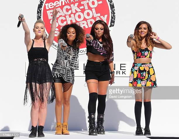 Singers Perrie Edwards LeighAnne Pinnock Jesy Nelson and Jade Thirwall of Little Mix attend the Teen Vogue 2nd Annual Back To School KickOff Party at...