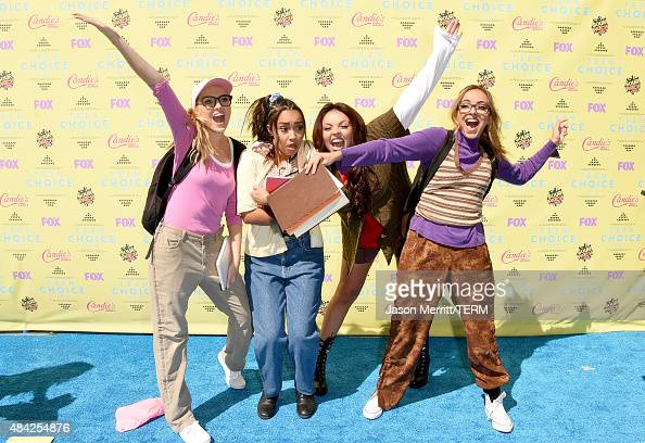 Singers Perrie Edwards LeighAnne Pinnock Jesy Nelson and Jade Thirlwall of Little Mix attend the Teen Choice Awards 2015 at the USC Galen Center on...