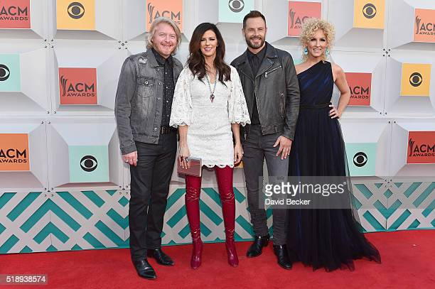 Singers Phillip Sweet Karen Fairchild Jimi Westbrook and Kimberly Schlapman of Little Big Town attend the 51st Academy of Country Music Awards at MGM...