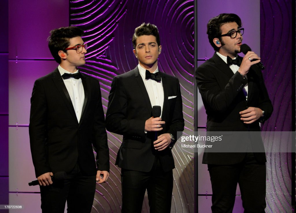 Singers <a gi-track='captionPersonalityLinkClicked' href=/galleries/search?phrase=Piero+Barone&family=editorial&specificpeople=5945024 ng-click='$event.stopPropagation()'>Piero Barone</a>, <a gi-track='captionPersonalityLinkClicked' href=/galleries/search?phrase=Gianluca+Ginoble&family=editorial&specificpeople=5945022 ng-click='$event.stopPropagation()'>Gianluca Ginoble</a> and <a gi-track='captionPersonalityLinkClicked' href=/galleries/search?phrase=Ignazio+Boschetto&family=editorial&specificpeople=5945023 ng-click='$event.stopPropagation()'>Ignazio Boschetto</a> of Il Volo perform onstage during the 40th Annual Daytime Emmy Awards at the Beverly Hilton Hotel on June 16, 2013 in Beverly Hills, California. 23774_001_2088.JPG