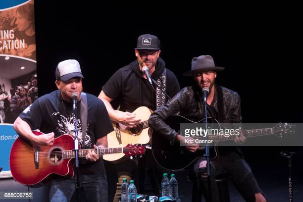 Singers Preston Brust and Chris Lucas of Locash perform during the CMA Songwriters Series at The Kennedy Center of performing arts on May 24 2017 in...
