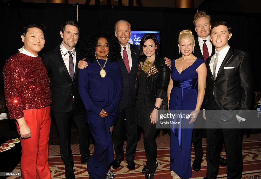 Singers Psy, Chris Mann, Diana Ross, United States Vice President Joe Biden, singers Demi Lovato, Megan Hilty, host Conan O'Brien and singer Scotty McCreery attend TNT Christmas in Washington 2012 at National Building Museum on December 9, 2012 in Washington, DC. 23098_003_KM_0474.JPG