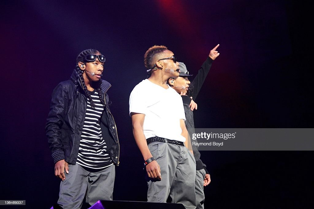 Singers Ray Ray Prodigy and Roc Royal of Mindless Behavior performs during the WGCIFM 'Big Jam' concert at the Allstate Arena in Rosemont Illinois on...
