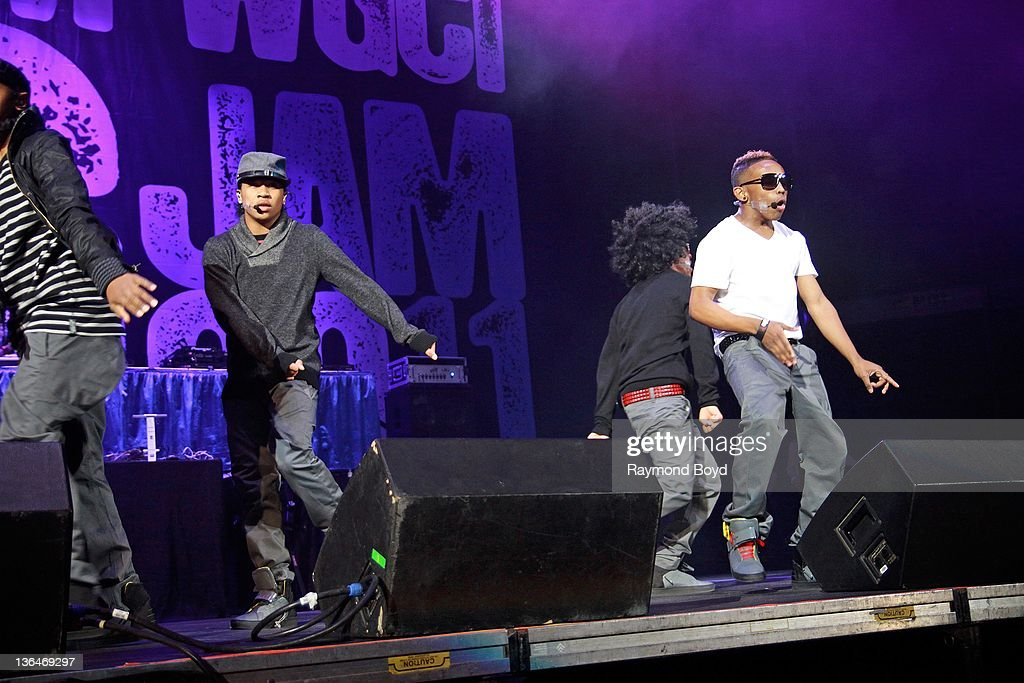 Singers Ray Ray Roc Royal Princeton and Prodigy of Mindless Behavior performs during the WGCIFM 'Big Jam' concert at the Allstate Arena in Rosemont...