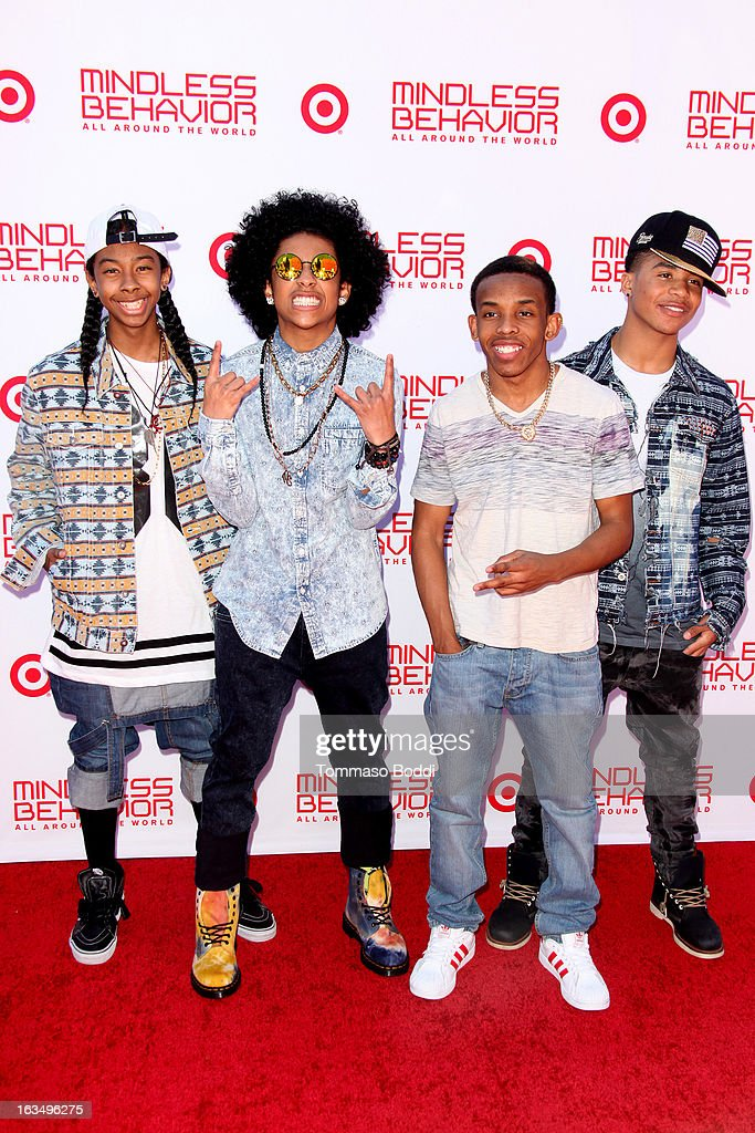 Singers RayRay Princeton Prodigy and Roc Royal of Mindless Behavior attend the 'Mindless Behavior All Around The World' premiere held at the AMC...