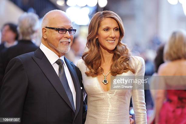 Singers Rene Angelil and Celine Dion arrive at the 83rd Annual Academy Awards held at the Kodak Theatre on February 27 2011 in Hollywood California