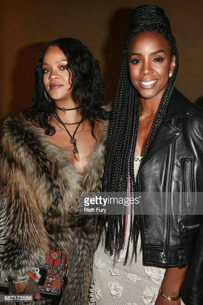 Singers Rihanna and Kelly Rowland attend the Christian Dior Cruise 2018 Runway Show at the Upper Las Virgenes Canyon Open Space Preserve on May 11...