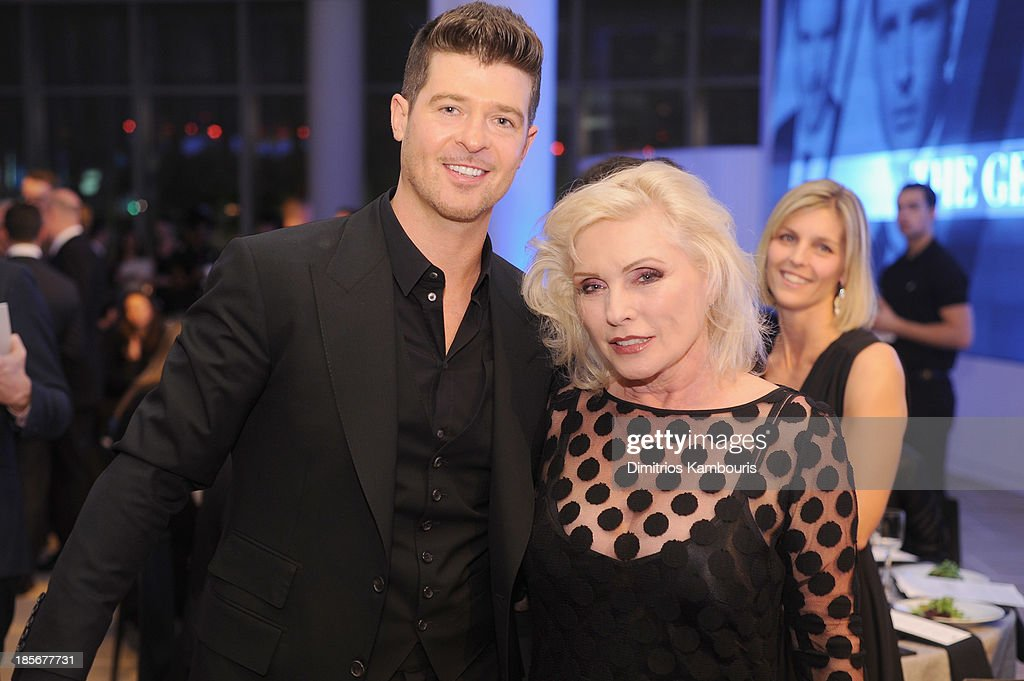 Singers Robin Thicke and Debbie Harry attend the 2013 GQ Gentlemen's Ball presented by BMW i, Movado, and Nautica at IAC Building on October 23, 2013 in New York City.