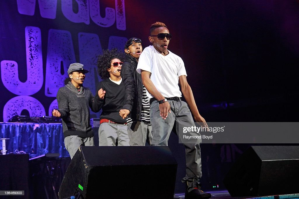 Singers Roc Royal Princeton Ray Ray and Prodigy of Mindless Behavior performs during the WGCIFM 'Big Jam' concert at the Allstate Arena in Rosemont...