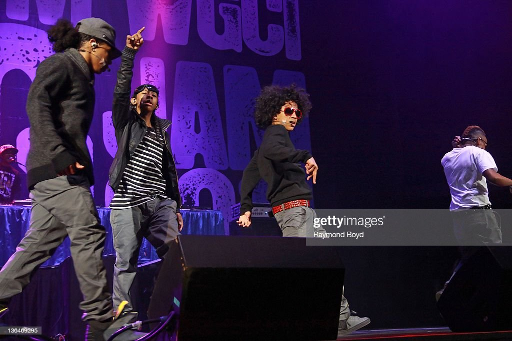 Singers Roc Royal Ray Ray Princeton and Prodigy of Mindless Behavior performs during the WGCIFM 'Big Jam' concert at the Allstate Arena in Rosemont...