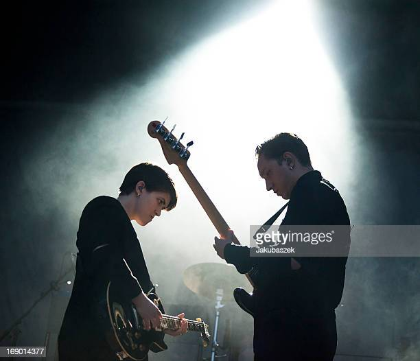 Singers Romy Madley Croft and Oliver Sim of the British band The xx perform live during The Night and Day Festival at the spreepark on May 18 2013 in...