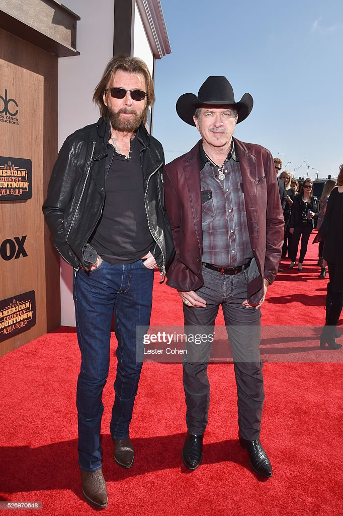 Singers Ronnie Dunn (L) and Kix Brooks of Brooks & Dunn attend the 2016 American Country Countdown Awards at The Forum on May 1, 2016 in Inglewood, California.