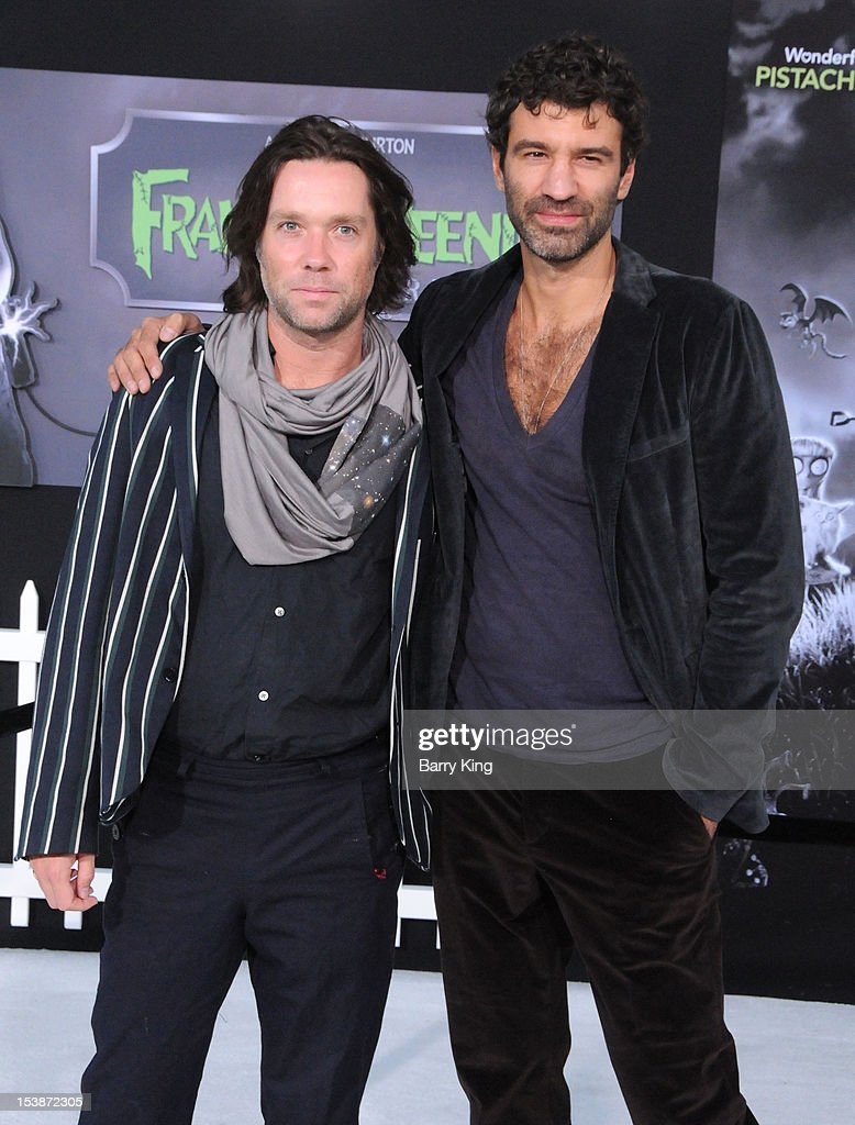 Singers <a gi-track='captionPersonalityLinkClicked' href=/galleries/search?phrase=Rufus+Wainwright&family=editorial&specificpeople=206122 ng-click='$event.stopPropagation()'>Rufus Wainwright</a> and Jorn Weisbrodt attend the premiere of 'Frankenweenie' at the El Capitan Theatre on September 24, 2012 in Hollywood, California.