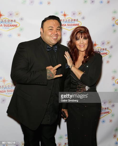 Singers Ryan Whyte Maloney and Linda Suzanne attend the debut of Suzanne's show 'Linda Suzanne Sings Divas of Pop' at the South Point Hotel Casino on...
