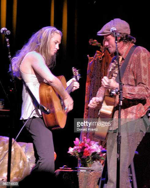 Singers Sally Taylor and brother Ben Taylor join their mother songwriter Carly Simon for a performance at the Event Center at Borgata Casino Hotel...