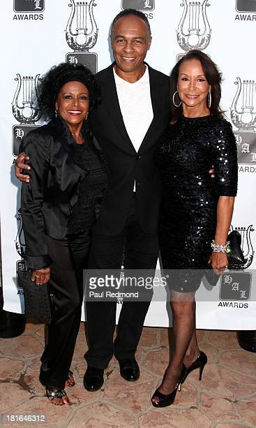 Singers Scherrie Payne Ray Parker Jr and Freda Payne attend the 24th Annual Heroes And Legends Awards at Beverly Hills Hotel on September 22 2013 in...