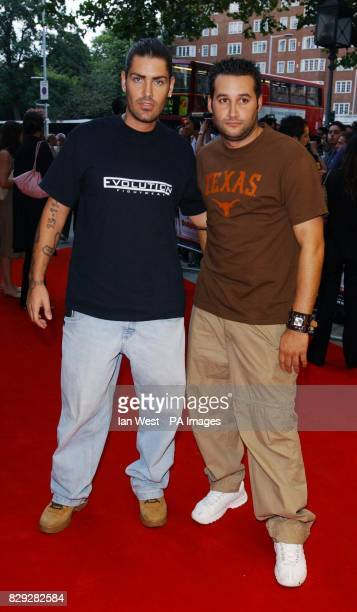 Singers Shane Lynch and Dane Bowers arrive for the UK premiere of Dodgeball at the Odeon Kensington in west London