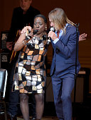 Singers Sharon Jones and Iggy Pop perform onstage at the 26th Annual Tibet House US benefit concert at Carnegie Hall on February 22 2016 in New York...