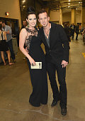 Singers Shawna Thompson and Keifer Thompson of Thompson Square attend the 48th Annual Academy of Country Music Awards at the MGM Grand Garden Arena...