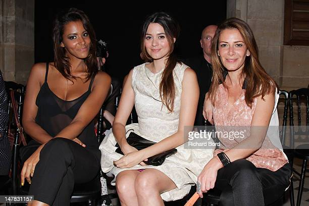 Singers Shy'm Emilie Simon and Elsa Fayer attend the Didit Hediprasetyo HauteCouture Show as part of Paris Fashion Week Fall/Winter 2012/13 at...