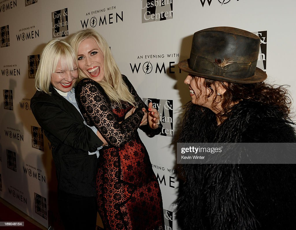Singers Sia, Natasha Bedingfield and producer/musician Linda Perry arrive at An Evening With Women benefiting The L.A. Gay & Lesbian Center at the Beverly Hilton Hotel on May 18, 2013 in Beverly Hills, California.