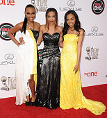 Singers Sierra McClain Lauryn McClain and China Anne McClain attend the 45th NAACP Image Awards at Pasadena Civic Auditorium on February 22 2014 in...