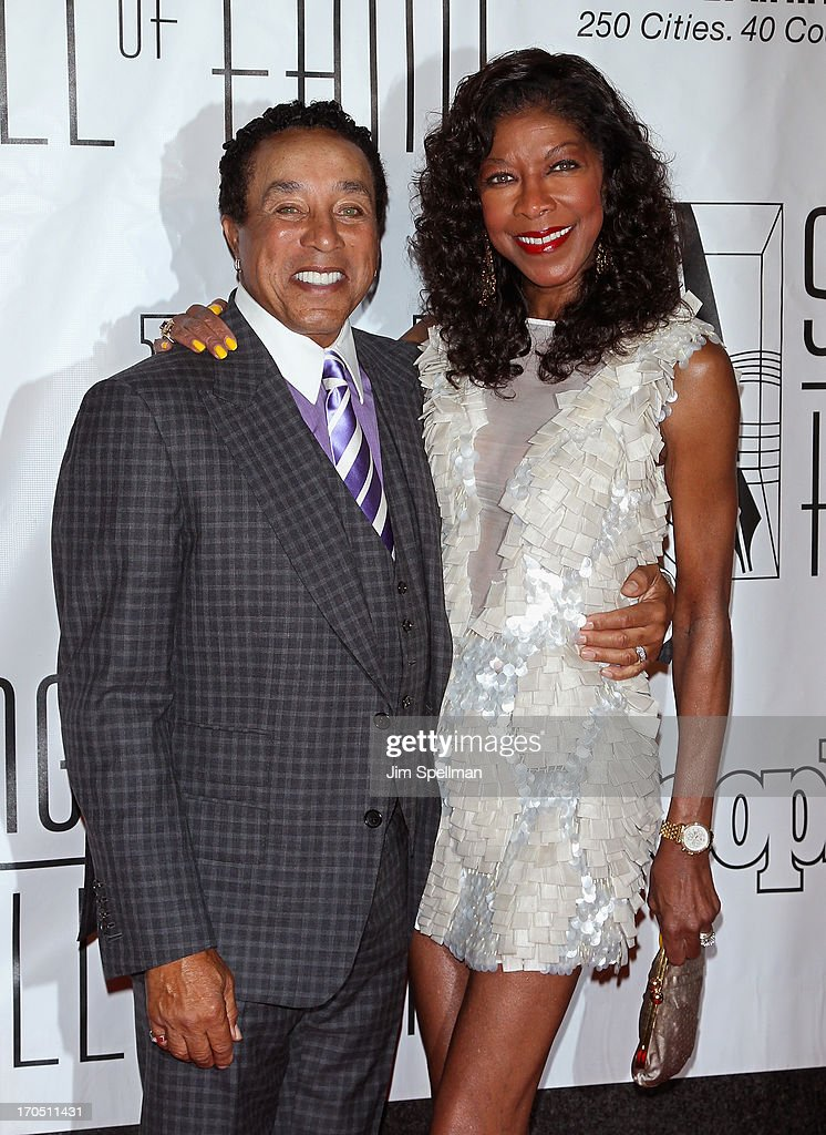 Singers Smokey Robinson and Natalie Cole attend the 2013 Songwriters Hall Of Fame Gala at Marriott Marquis Hotel on June 13, 2013 in New York City.