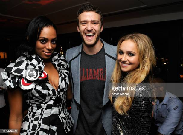 Singers Solange Knowles Justin Timberlake and actress Hayden Panettiere attend the Conde Nast Media Group's Fifth Annual Fashion Rocks after party at...