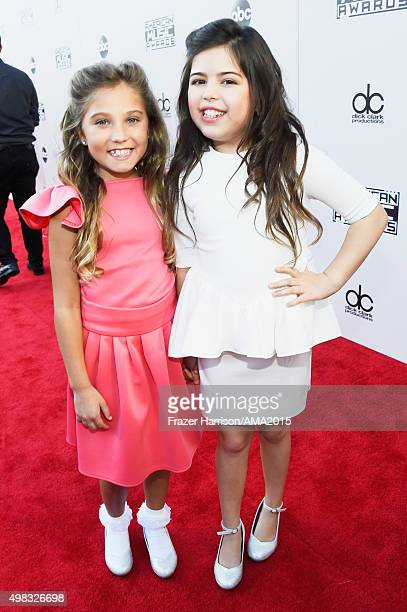Singers Sophia Grace Rosie attend the 2015 American Music Awards at Microsoft Theater on November 22 2015 in Los Angeles California