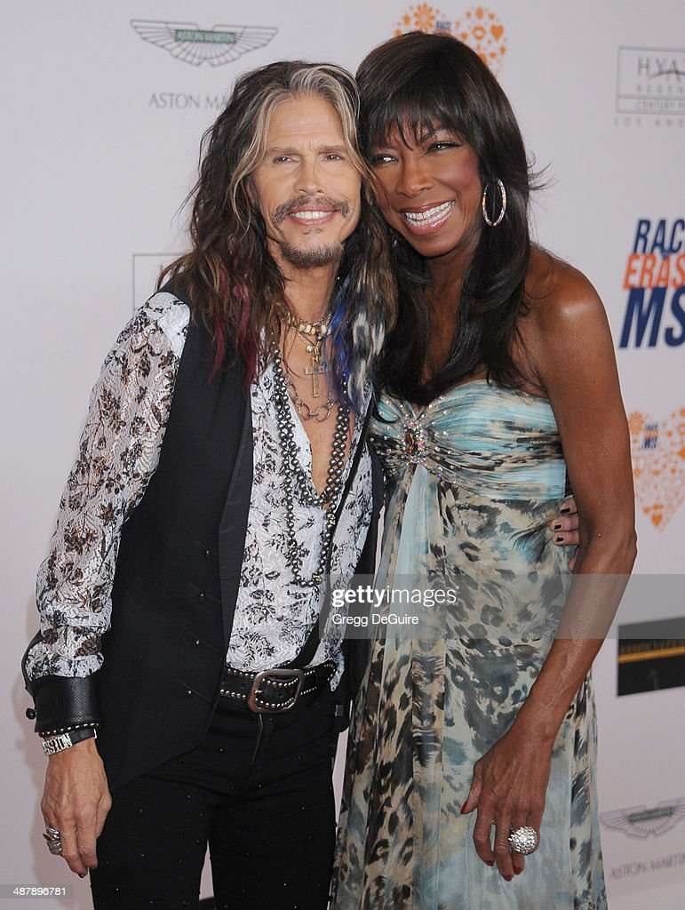 Singers Steven Tyler and Natalie Cole arrive at the 21st Annual Race To Erase MS Gala at the Hyatt Regency Century Plaza on May 2, 2014 in Century City, California.