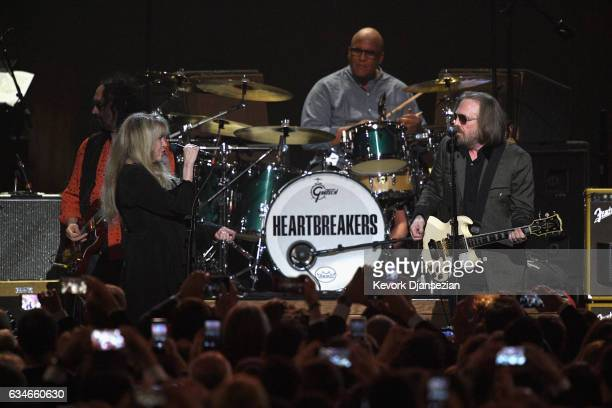 Singers Stevie Nicks and Tom Petty perform onstage during MusiCares Person of the Year honoring Tom Petty at the Los Angeles Convention Center on...
