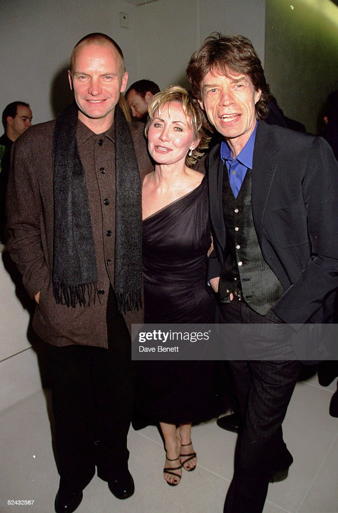 Singers Sting, Lulu and Mick Jagger at Sting's launch party at the Hempel Hotel, in west London, in aid of the Tibetan Peace Garden Appeal, the garden will be near the Imperial War Museum in Southwark, it has been commissioned by the Tibet Foundation and is based on a Buddhist image of a wheel of time combined with a Celtic cross - symbolising the meeting of east and west on November 05, 1998 in London. (Photo by Dave Benett/Getty Images).