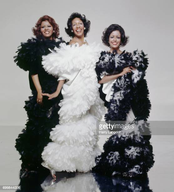 Singers Supremes Cindy Birdsong Mary Wilson Sherri Payne pose for a portrait in 2001 in Los Angeles California