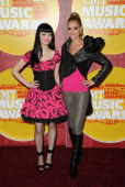 Singers Susie Brown and Danelle Leverett of the JaneDear Girls attend the 2011 CMT Music Awards at the Bridgestone Arena on June 8 2011 in Nashville...