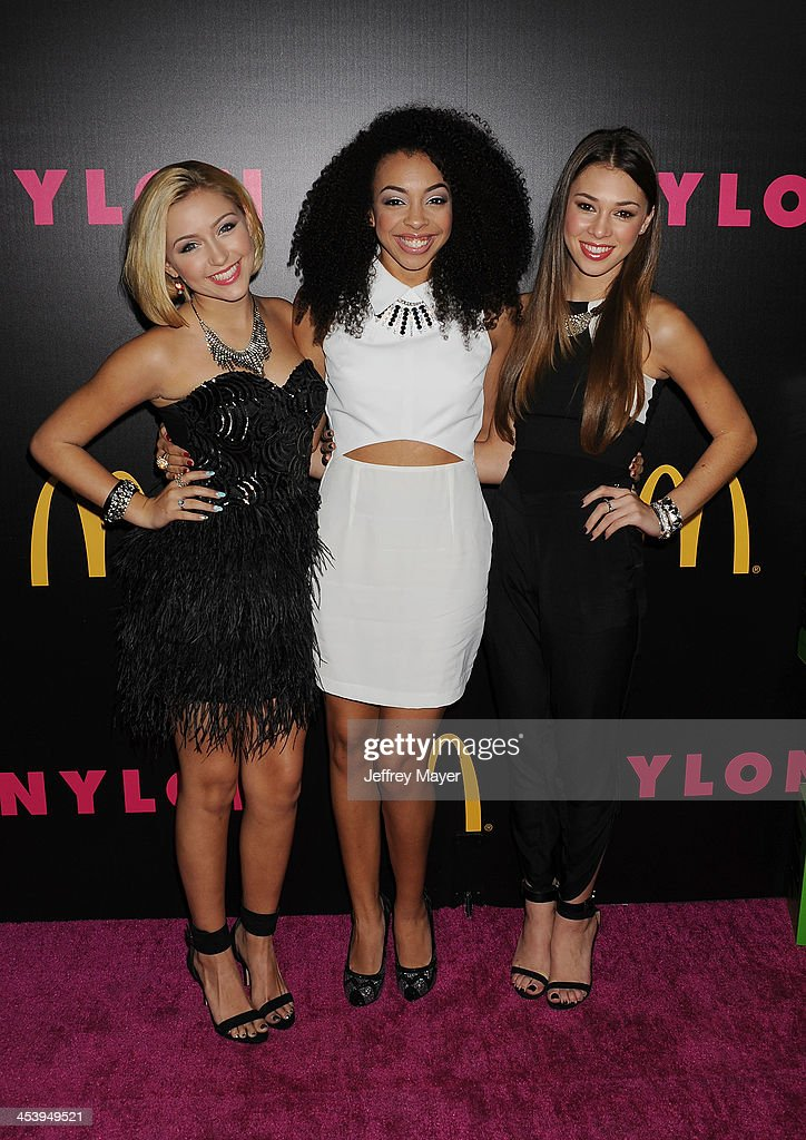 Singers Sweet Suspense attend NYLON + McDonald's Dec/Jan issue launch party, hosted by cover star Demi Lovato at Quixote Studios on December 5, 2013 in West Hollywood, California.