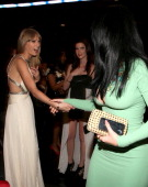 Singers Taylor Swift and Katy Perry attend the 55th Annual GRAMMY Awards at Staples Center on February 10 2013 in Los Angeles California