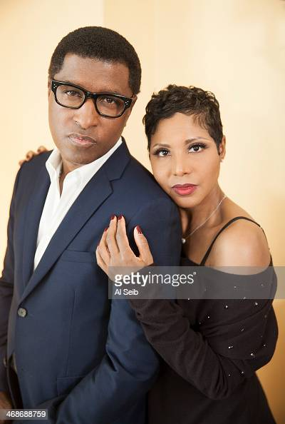 B singers Toni Braxton Kenny 'Babyface' Edmonds are photographed for Los Angeles Times on January 28 2014 in Westlake Village California PUBLISHED...