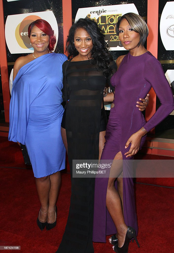 Singers Traci Braxton, Ashlee Braxton and Towanda Braxton attend the Soul Train Awards 2013 at the Orleans Arena on November 8, 2013 in Las Vegas, Nevada.