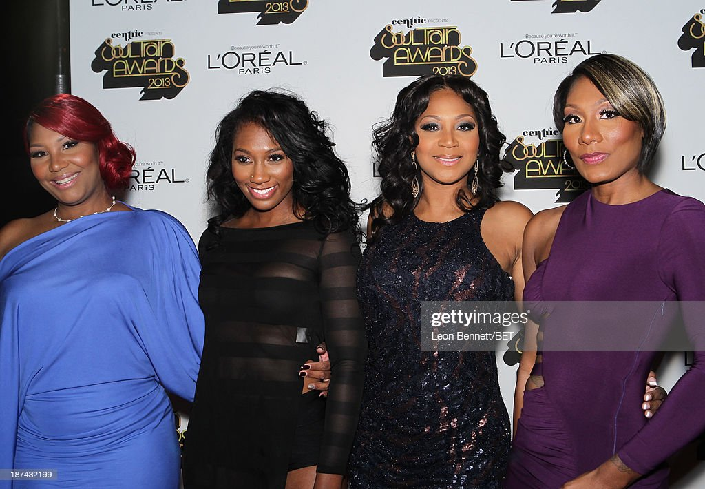 Singers Traci Braxton, Ashlee Braxton, <a gi-track='captionPersonalityLinkClicked' href=/galleries/search?phrase=Trina+Braxton&family=editorial&specificpeople=5880827 ng-click='$event.stopPropagation()'>Trina Braxton</a> and Towanda Braxton attend the Soul Train Awards 2013 at the Orleans Arena on November 8, 2013 in Las Vegas, Nevada.