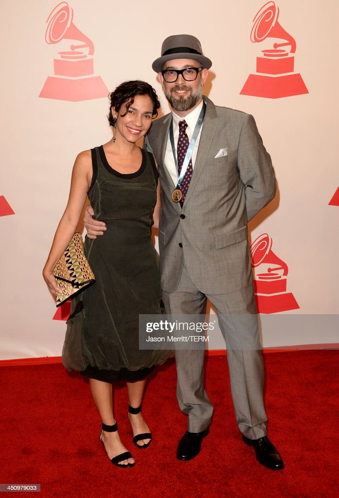 Singers Tristana Robles and Kacho Lopez arrive at the 2013 Latin Recording Academy Person Of The Year honoring Miguel Bose at the Mandalay Bay Convention Center on November 20, 2013 in Las Vegas, Nevada.