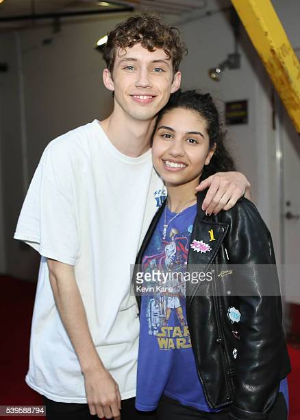 Singers Troye Sivan and Alessia Cara prior to performing during the BLI Summer Jam at Nikon at Jones Beach Theater on June 11 2016 in Wantagh New York