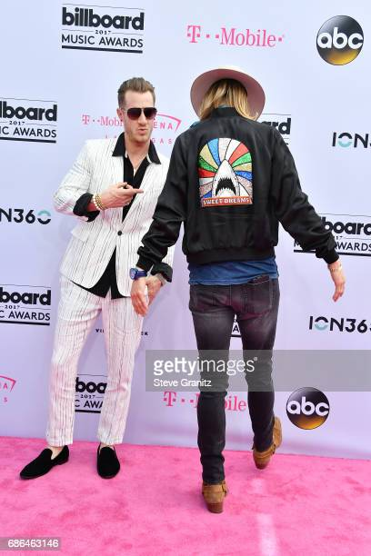 Singers Tyler Hubbard and Brian Kelley of Florida Georgia Line attend the 2017 Billboard Music Awards at TMobile Arena on May 21 2017 in Las Vegas...