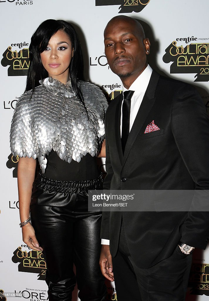 Singers <a gi-track='captionPersonalityLinkClicked' href=/galleries/search?phrase=Tyrese&family=editorial&specificpeople=206177 ng-click='$event.stopPropagation()'>Tyrese</a> Gibson (R) and Kristal Lyndriette attend the Soul Train Awards 2013 at the Orleans Arena on November 8, 2013 in Las Vegas, Nevada.