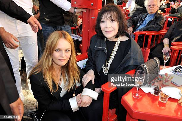 Singers Vanessa Paradis and Juliette Greco attend the Chanel Cruise Collection Presentation on May 11 2010 in SaintTropez France