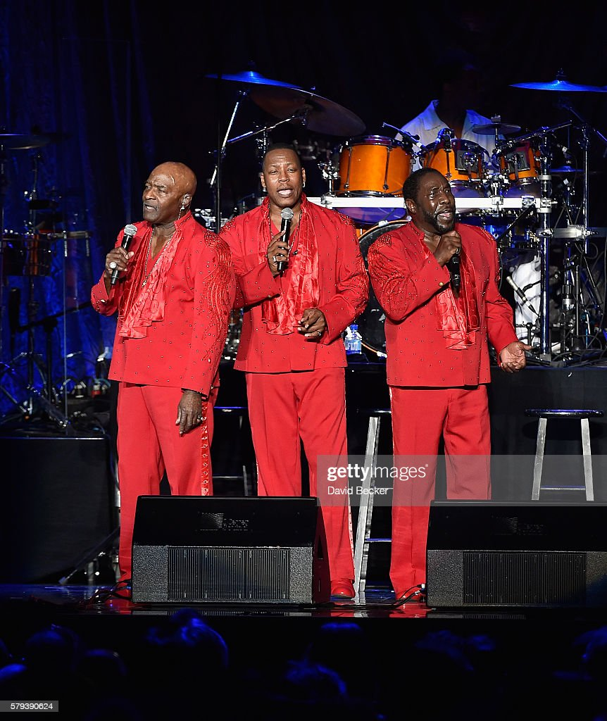 Singers Walter Williams, Eric Grant and Eddie Levert of The O'Jays perform during the 2016 Neighborhood Awards hosted by Steve Harvey at the Mandalay Bay Events Center on July 23, 2016 in Las Vegas, Nevada.
