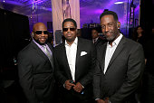 Singers Wanya Morris Nathan Morris and Shawn Stockman of Boyz II Men attend the 47th NAACP Image Awards Presented By TV One After Party at the...