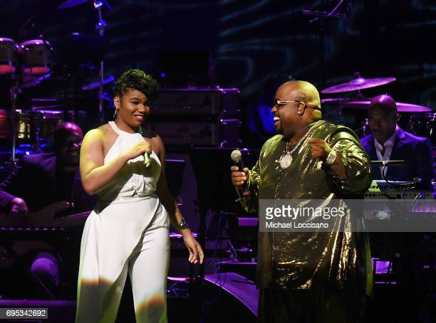 Singers We McDonald and CeeLo Green perform during the Apollo Spring Gala 2017 at The Apollo Theater on June 12 2017 in New York City