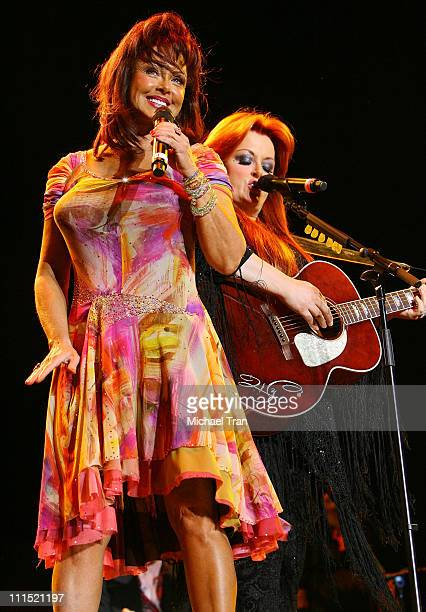 Singers Wynonna and Naomi Judd of The Judds perform at the 2008 Stagecoach California's Country Music Festival held at Empire Polo Fields on May 3...