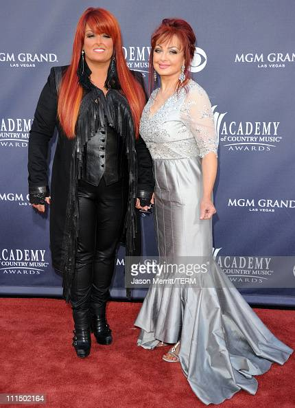 Singers Wynonna Judd and Naomi Judd arrive at the 46th Annual Academy Of Country Music Awards RAM Red Carpet held at the MGM Grand Garden Arena on...
